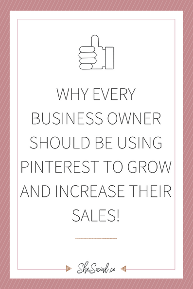 Growing A Business Is Hard, Especially If You Are Trying To Accumulate Customers Online! One Of The Most Underused Social Media Platforms That I Find Drives The Most Traffic Is Pinterest! Here Are Some Reasons Why You Should Start Using Pinterest On The Regular For Your Business Growth And To Increase Your Sales!! Www.shesocial.co