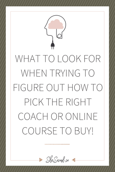 How To Pick The Right Coach Or Online Course To Invest In!