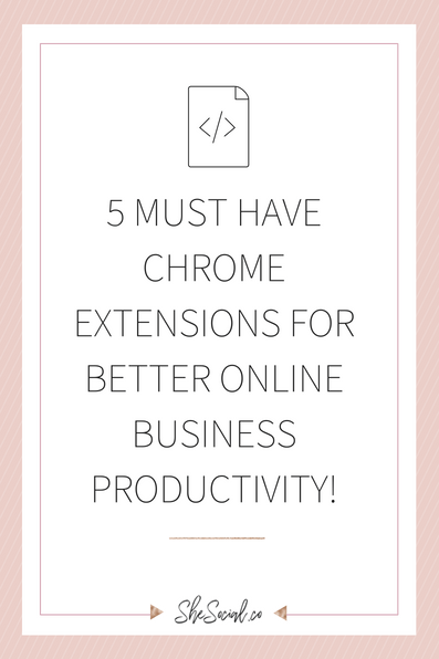5 Must Have Chrome Extensions For Better Online Business Productivity!