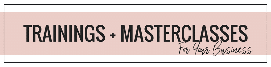 Masterclasses And Business Trainings